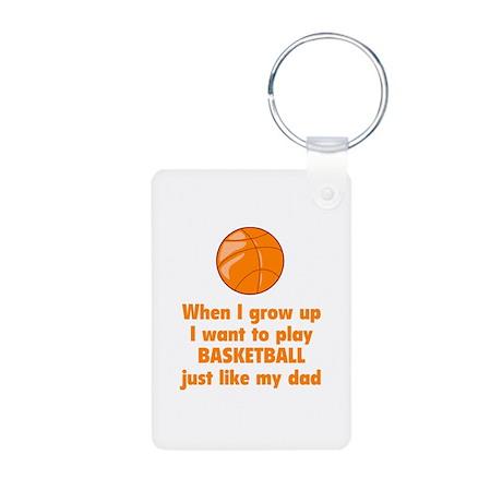Play Basketball Aluminum Photo Keychain