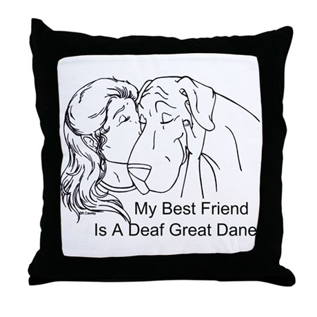 N DeafBF Hug Throw Pillow