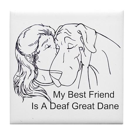 N DeafBF Hug Tile Coaster