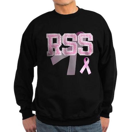 RSS initials, Pink Ribbon, Sweatshirt (dark)