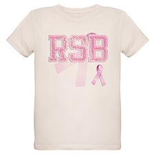RSB initials, Pink Ribbon, T-Shirt