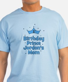 1st Birthday Prince Jordons Mom T-Shirt