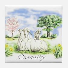 Goats- Angora Serenity Tile Coaster
