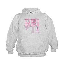 RBI initials, Pink Ribbon, Hoodie