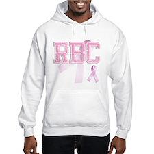 RBC initials, Pink Ribbon, Hoodie