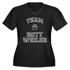 Team Rottweiler Women's Plus Size V-Neck Dark T-Sh