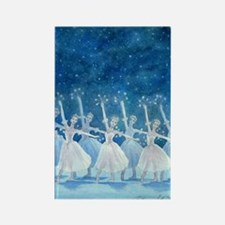 Dance of the Snowflakes Rectangle Magnet