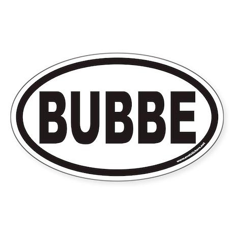 BUBBE Euro Oval Sticker