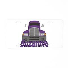 Trucker Suzanne Aluminum License Plate