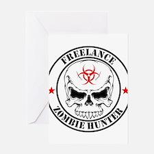 Freelance Zombie Hunter Greeting Cards