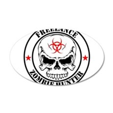 Freelance Zombie Hunter Wall Decal