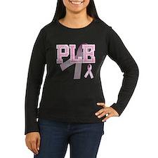 PLE initials, Pink Ribbon, T-Shirt