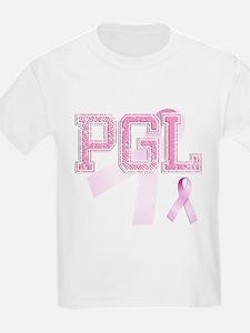 PGL initials, Pink Ribbon, T-Shirt