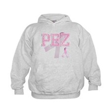 PEZ initials, Pink Ribbon, Hoodie
