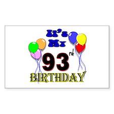 It's My 93rd Birthday Decal