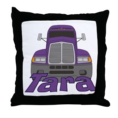 Trucker Tara Throw Pillow