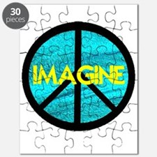IMAGINE with PEACE SYMBOL.psd Puzzle