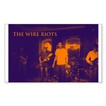 The Wire Riots Sticker (Rectangle 10 pk)