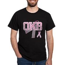 OKB initials, Pink Ribbon, T-Shirt