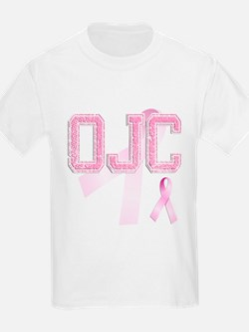OJC initials, Pink Ribbon, T-Shirt