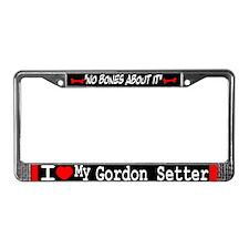 NB_Gordon Setter License Plate Frame