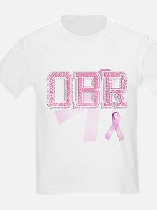 OBR initials, Pink Ribbon, T-Shirt