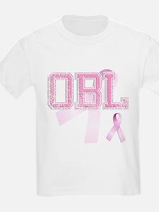 OBL initials, Pink Ribbon, T-Shirt