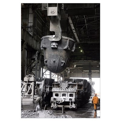 Magnitogorsk iron and steel works Poster