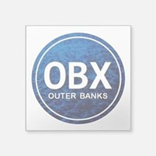 """OBX - Outer Banks Square Sticker 3"""" x 3"""""""