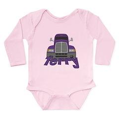 Trucker Terry Long Sleeve Infant Bodysuit