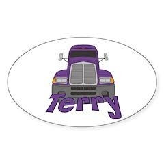 Trucker Terry Sticker (Oval)