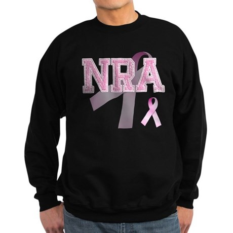 NRA initials, Pink Ribbon, Sweatshirt (dark)