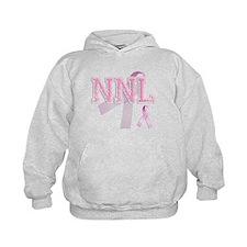 NNL initials, Pink Ribbon, Hoodie