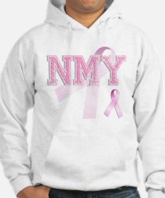 NMY initials, Pink Ribbon, Hoodie