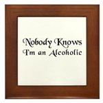 The Alcoholic's Theraputic Framed Tile