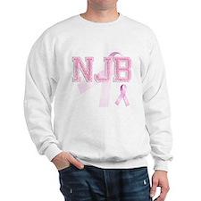 NJB initials, Pink Ribbon, Sweatshirt