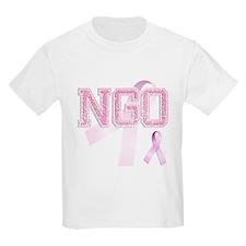 NGO initials, Pink Ribbon, T-Shirt