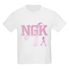 NGK initials, Pink Ribbon, T-Shirt
