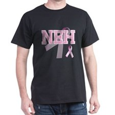 NEH initials, Pink Ribbon, T-Shirt
