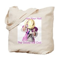 Goats- Hold onto your Hat! Tote Bag