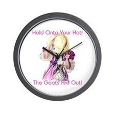 Goats- Hold onto your Hat! Wall Clock