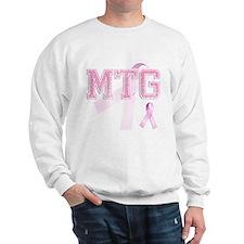 MTG initials, Pink Ribbon, Sweatshirt