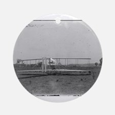 Wright Brothers Airplane Shop Ornament (Round)