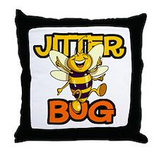 Jitter Bug Bee Throw Pillow
