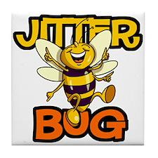 Jitter Bug Bee Tile Coaster