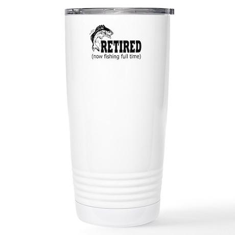 Retired Fishing Shirt Stainless Steel Travel Mug