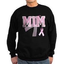 MIM initials, Pink Ribbon, Sweatshirt