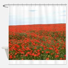 Scarlet Horizons Shower Curtain