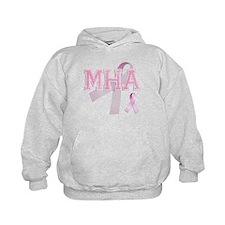MHA initials, Pink Ribbon, Hoodie