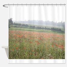 Poppies in Evening Mist Shower Curtain